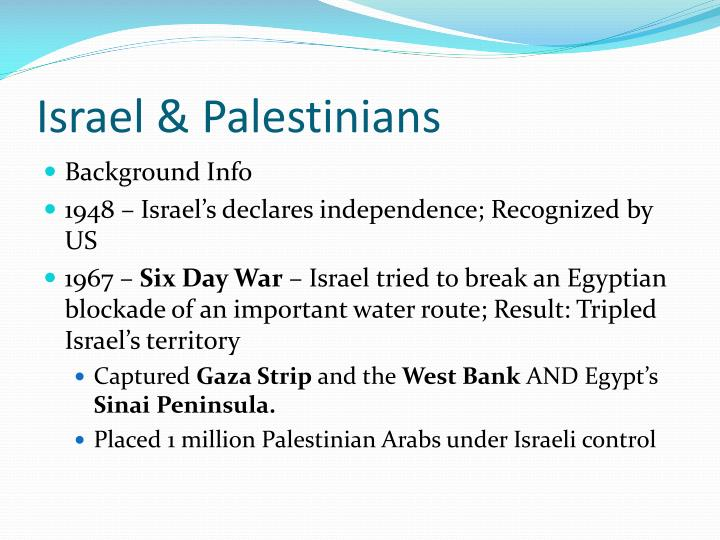 Israel & Palestinians