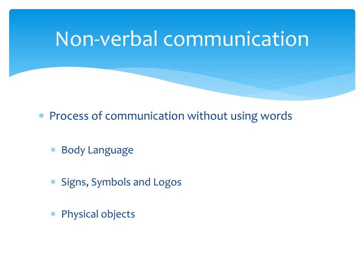 a study on non-verbal communication strategies used by doctors essay Non-verbal communication, or wordless communication based mostly on visual cues, is most likely the oldest form of communication known to man long before the first words were spoken or the first.