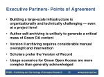 executive partners points of agreement