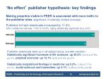 no effect publisher hypothesis key findings