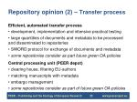 repository opinion 2 transfer process