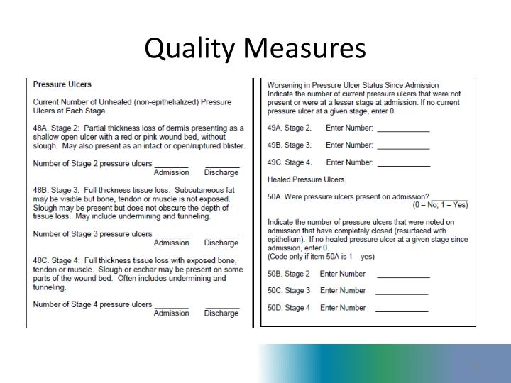 quality measure Quality measure/quality indicator definitions released by cms in 2005, adapted by equip qm/qi measures chronic care measures qm/qi definition.