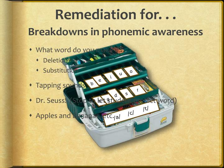 Remediation for. . .