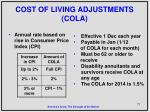 cost of living adjustments cola
