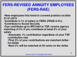 fers revised annuity employees fers rae