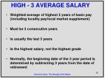 high 3 average salary