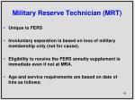 military reserve technician mrt