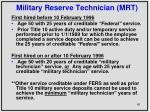 military reserve technician mrt1