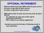 optional retirement
