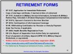 retirement forms