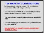 tsp make up contributions