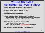 voluntary early retirement authority vera