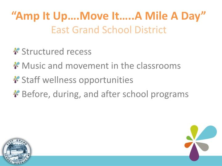 """Amp It Up….Move It…..A Mile A Day"""