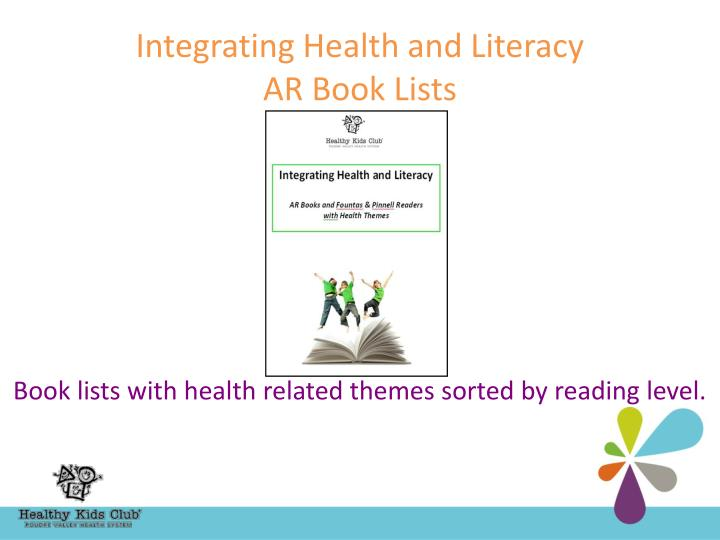 Integrating Health and Literacy