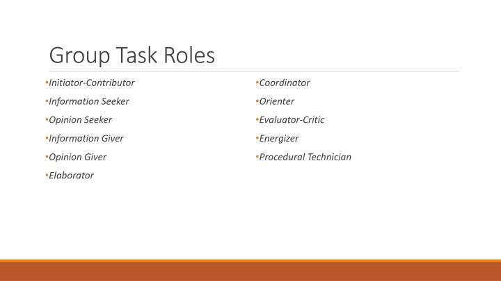 Group Task Roles