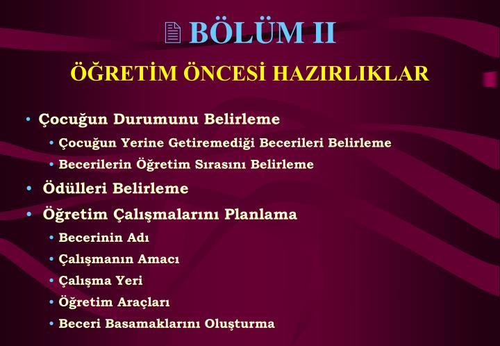 BÖLÜM II