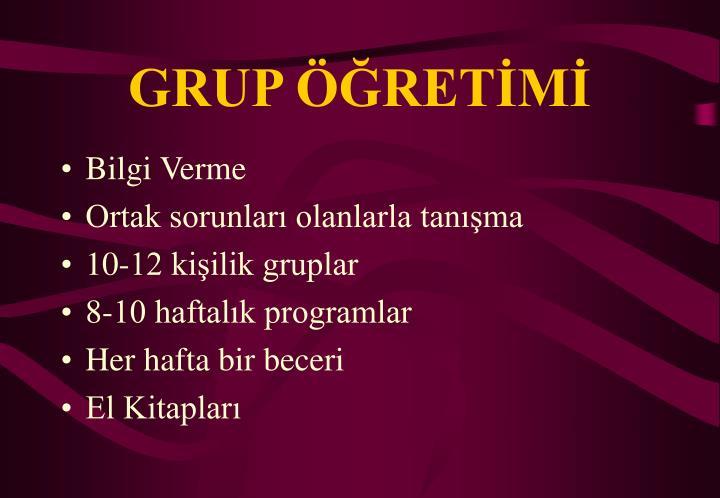 GRUP ÖĞRETİMİ