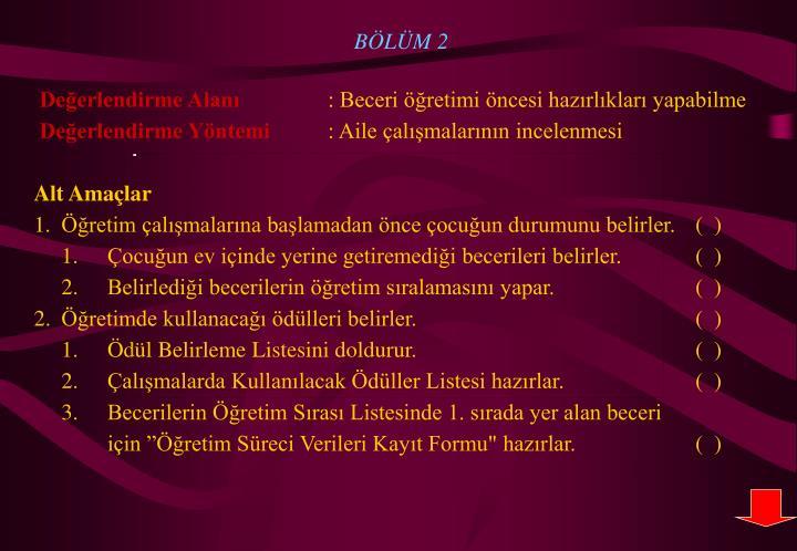 BÖLÜM 2