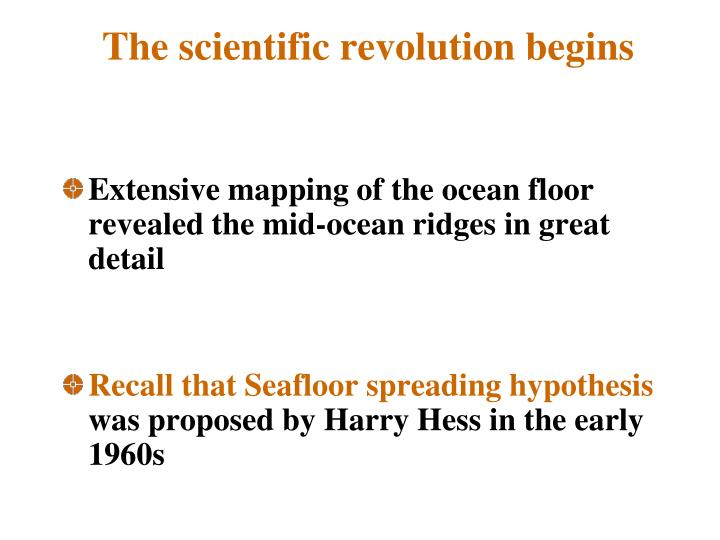 The scientific revolution begins
