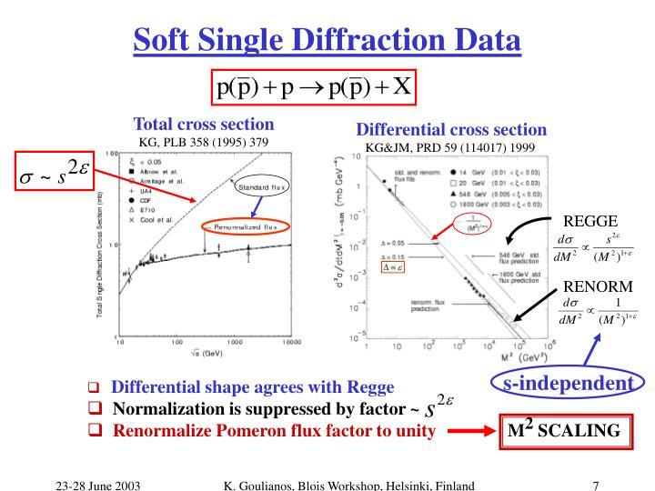 Soft Single Diffraction Data