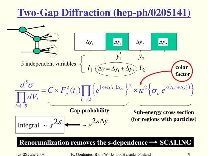 Two-Gap Diffraction (hep-ph/0205141)