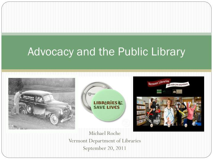 advocacy and the public library n.