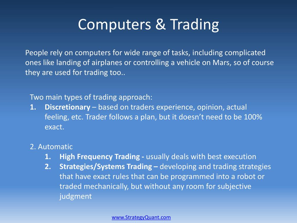 PPT - StrategyQuant Algorithmic Trading – Why and How? PowerPoint
