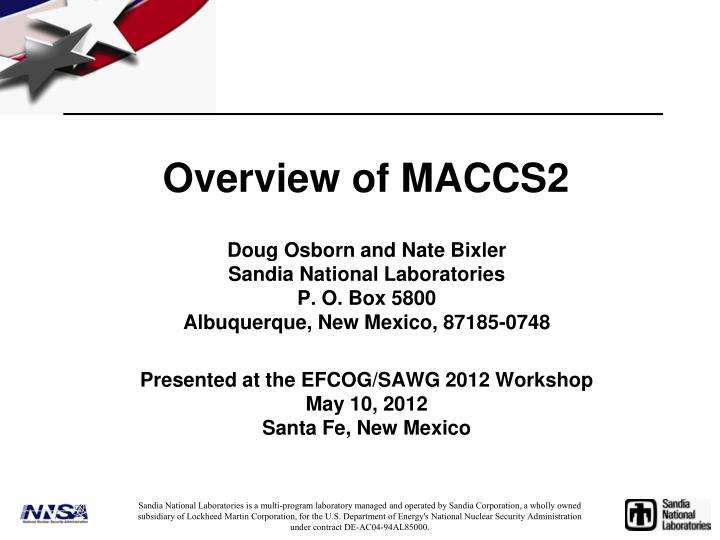 overview of maccs2 n.