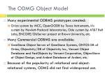 the odmg object model