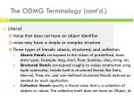 the odmg terminology cont d3
