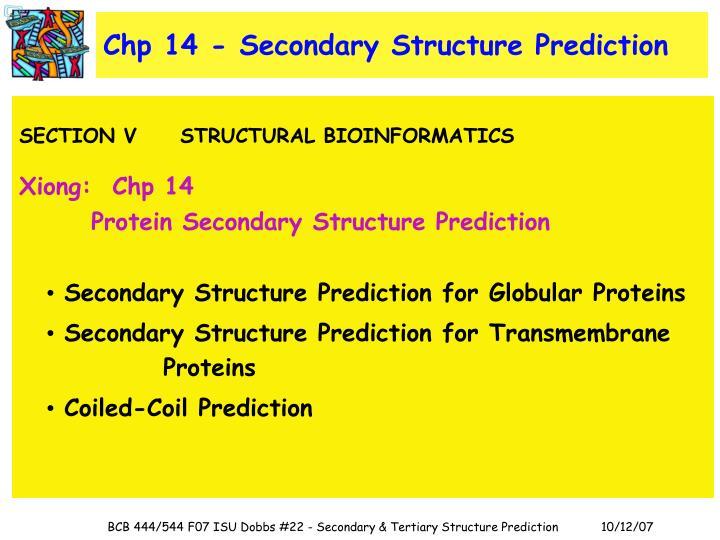 Chp 14 - Secondary Structure Prediction