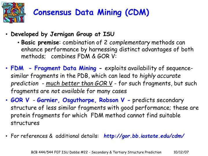 Consensus Data Mining (CDM)