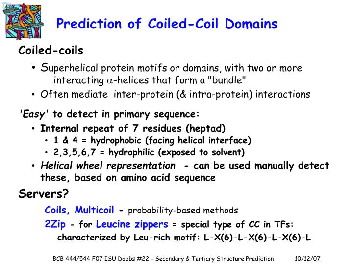 Prediction of Coiled-Coil Domains