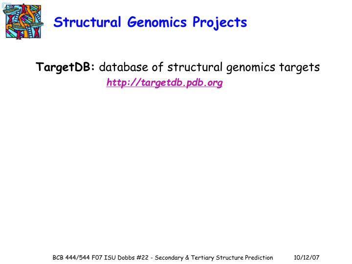 Structural Genomics Projects