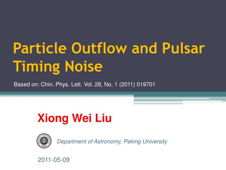 particle outflow and pulsar timing noise n.