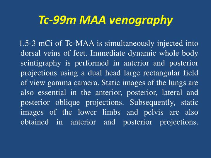 Tc-99m MAA venography