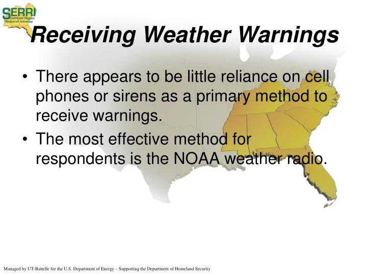 Receiving Weather Warnings