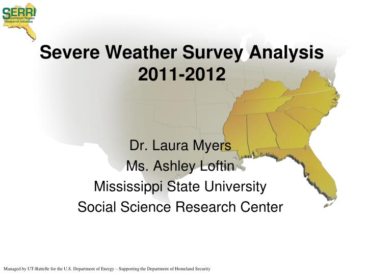 Severe weather survey analysis 2011 2012