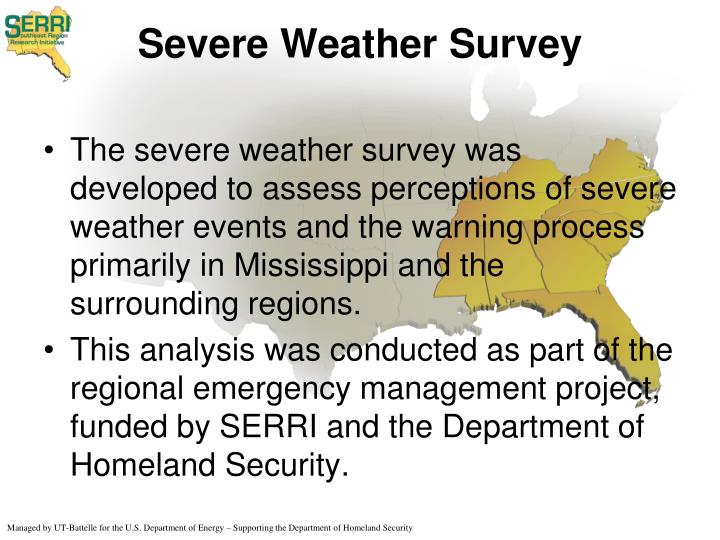 Severe weather survey