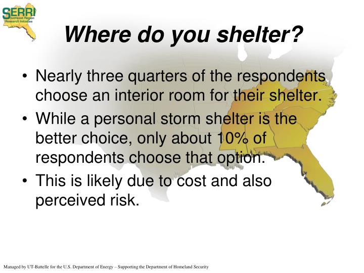 Where do you shelter?