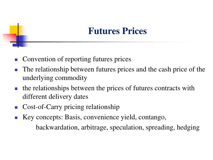 futures prices n.