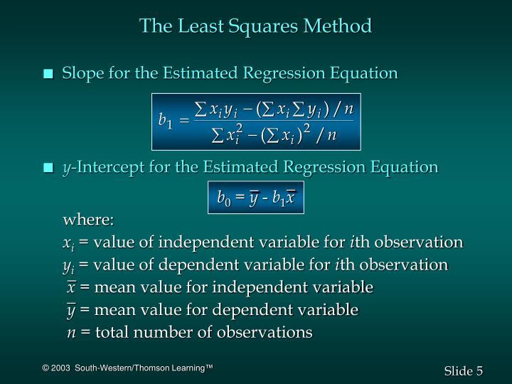 The Least Squares Method