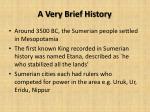 a very brief history