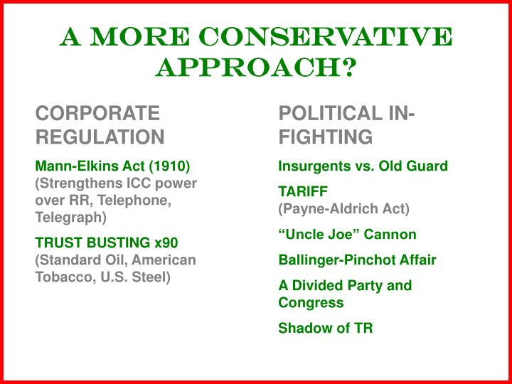 A MORE CONSERVATIVE APPROACH?