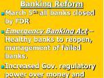 banking reform