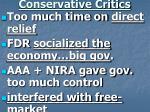 conservative critics