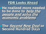 fdr looks ahead