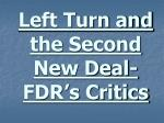 left turn and the second new deal fdr s critics