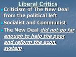 liberal critics