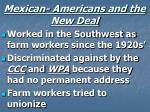mexican americans and the new deal